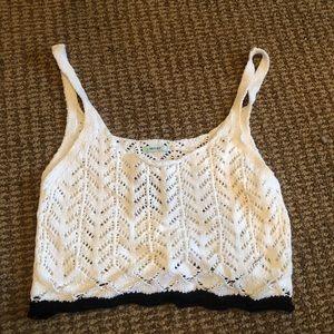 NWT White crochet bralette/ cropped top